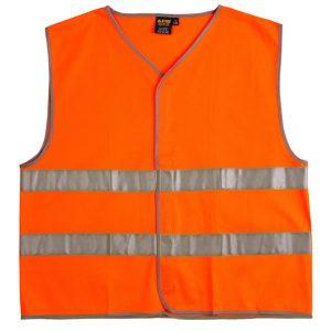 אפוד בטיחות ווסט דגם - אפוד זוהר כתום