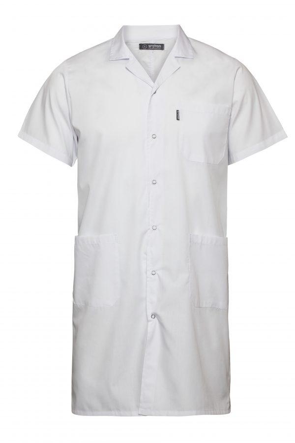 בגדי עבודה טבחים חלוק שרוול קצר לבן