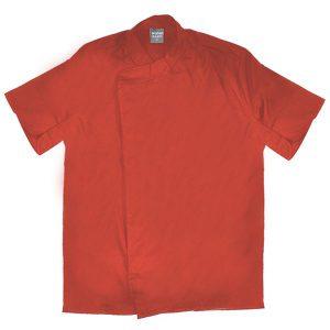 ביגוד שף - ג'קט שף - חולצת שף טיק טק נסתר שרוול קצר בגדי טבחים