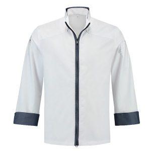 ביגוד שף - ג'קט שף - חולצת שף זיפ בגדי טבחים