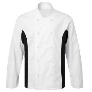 ביגוד שף - חולצת שף - ג'קט שף משולב  בגדי טבחים