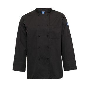 חולצת שף – ג'קט שף שחור/לבן  בגדי טבחים