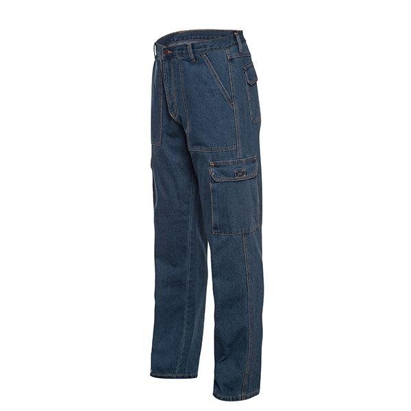 דגמח עבודה לגברים ג'ינס ללא גומי