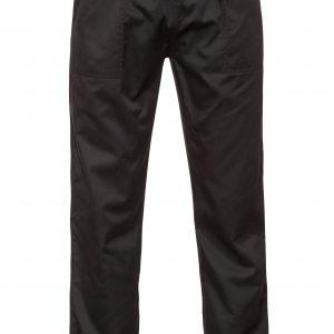 מכנסי עבודה גומי שחור המלביש בגדי עבודה