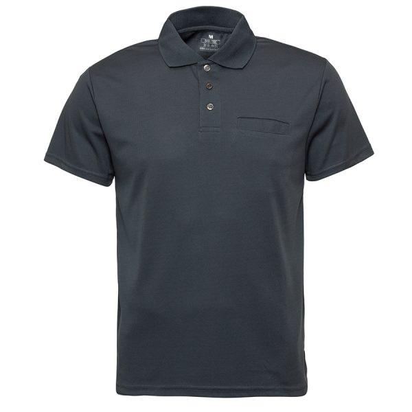 חולצת פולו דרייפיט עם כיס אפור חולצות עבודה